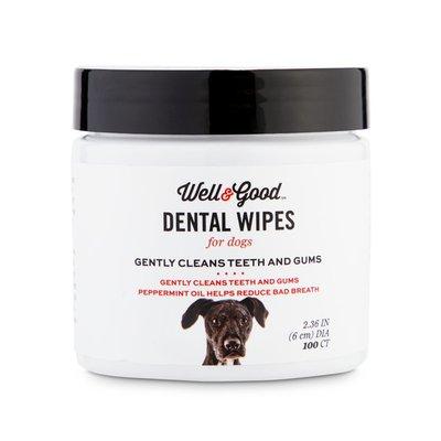 Well & Good Dog Round Dental Wipes