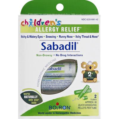 Boiron Sabadil, Quick-Dissolving Pellets