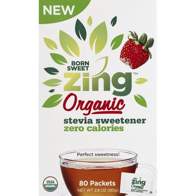 Zing Sweetener, Organic, Zero Calories, Stevia