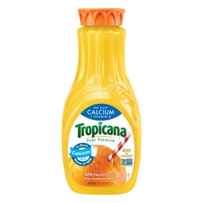 Tropicana Calcium + Vitamin D No Pulp Orange Juice