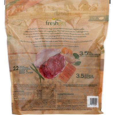 Freshpet Multi-Protein Chicken, Beef, Egg & Salmon Recipe
