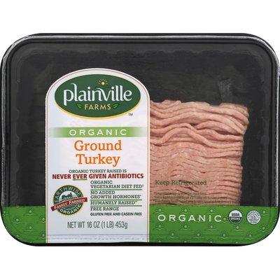 Plainville Farms Turkey, Organic, Ground