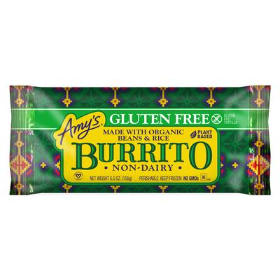 Amy's Frozen Bean & Rice Burrito, Gluten Free, Non-Dairy, 5.5 oz.