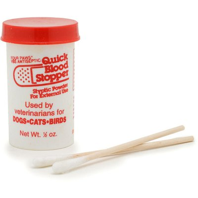 Four Paws Quick Blood Stopper Styptic Powder for External Use for Dogs, Cats & Birds