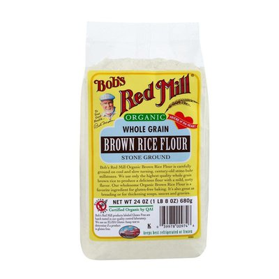 Bob's Red Mill Flour, Brown Rice, Whole Grain, Organic, Bag