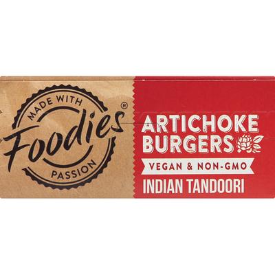Foodies Artichoke Burgers, Indian Tandoori
