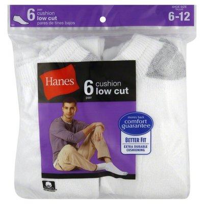 Hanes Socks, Cushion Low Cut, Men's
