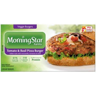 Morning Star Farms Tomato & Basil Pizza Veggie Burgers
