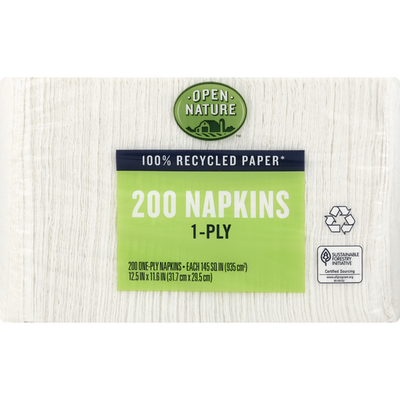 Open Nature Napkins, 1-Ply