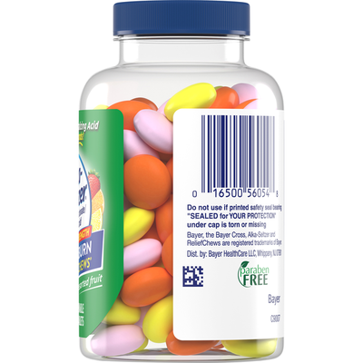 Alka-Seltzer Calcium Carbonate/Antacid, Extra Strength, Assorted Fruit, Chewable Tablets