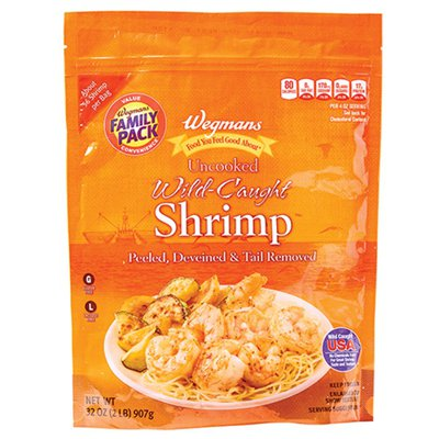 Wegmans Food You Feel Good About Uncooked Wild-Caught Shrimp, FAMILY PACK