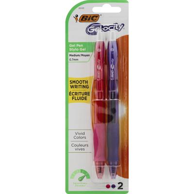 BiC Gel Pen, Smooth Writing, Assorted, Medium (0.7 mm)