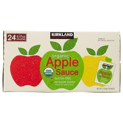 Kirkland Signature Organic Applesauce Pouch, 24 x 3.17 oz