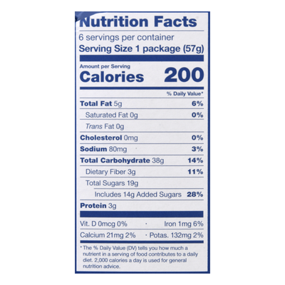 Nature's Bakery Whole Wheat Blueberry Fig Bar