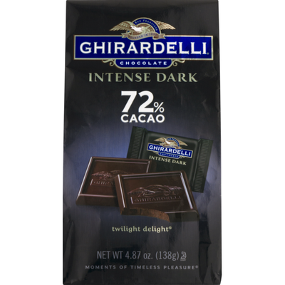 Ghirardelli Intense Dark Chocolate Squares - 72% Cacao – Dark chocolate with hints of blackberry and cherry