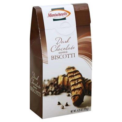 Manischewitz Biscotti, Dark Chocolate Dipped