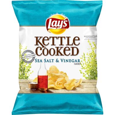 Lay's Potato Chips, Sea Salt & Vinegar, Kettle Cooked