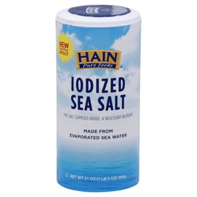 Hain Pure Foods Sea Salt, Iodized