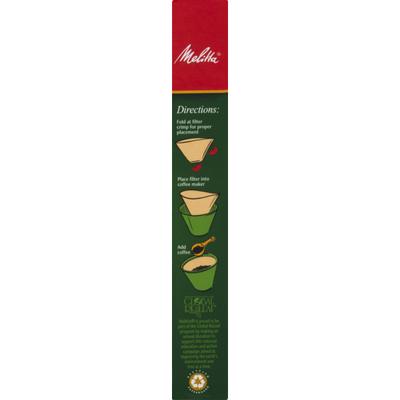 Melitta Super Premium Coffee Filters #2 Natural Brown - 40 CT