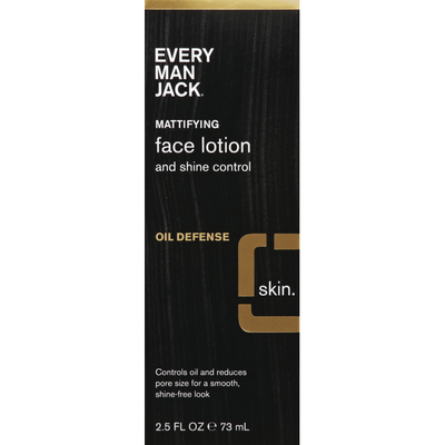 Every Man Jack Face Lotion, and Shine Control, Mattifying