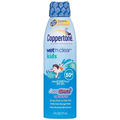 Coppertone Wet'n Clear AccuSpray Kids Broad Spectrum SPF 50+ Spray  Sunscreen