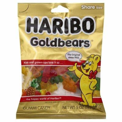 HARIBO Gummi Candy, Goldbears, Share Size