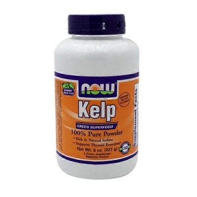 Now Organic Kelp Super Green Supports Healthy Thyroid Function, Excellent Source Of Iodine Dietary Supplement Pure Powder