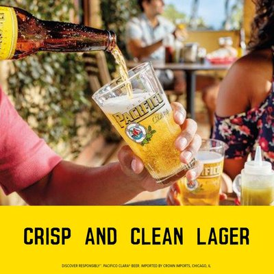 Pacifico Clara Mexican Lager Beer Bottles