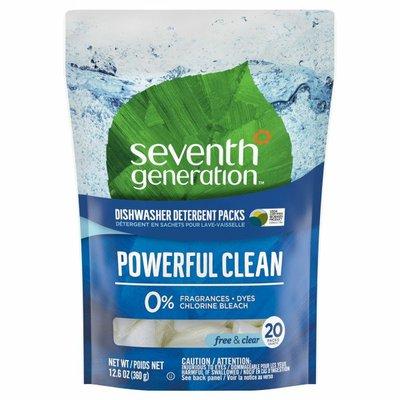 Seventh Generation Dishwasher Detergent Packs Fragrance Free