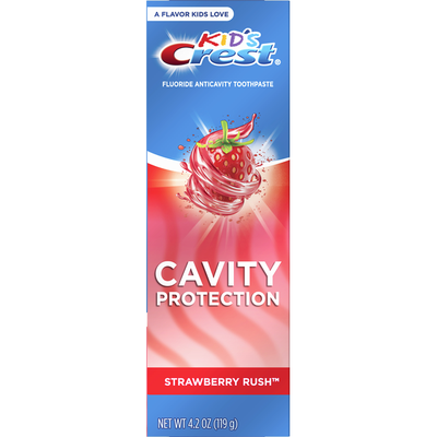 Crest Cavity Protection Fluoride Toothpaste, Strawberry Rush