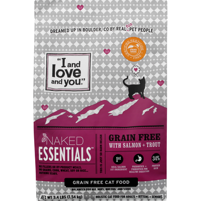 """""""I and love and you"""" Naked Essentials Cat Kibble - Salmon + Trout"""