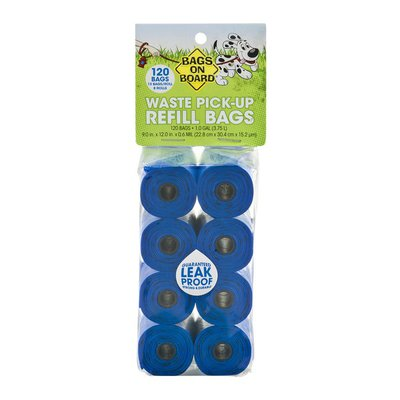 Bags on Board Waste Pick-Up Refill Bags - 120 CT