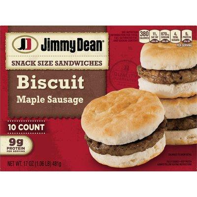 Jimmy Dean Snack Size Maple Sausage Biscuit Sandwiches, Frozen