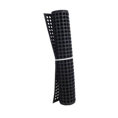 "Axia Distribution Corp Black Rubber Anti Fatigue Mat, 3"" X 5"" X 3/8 """