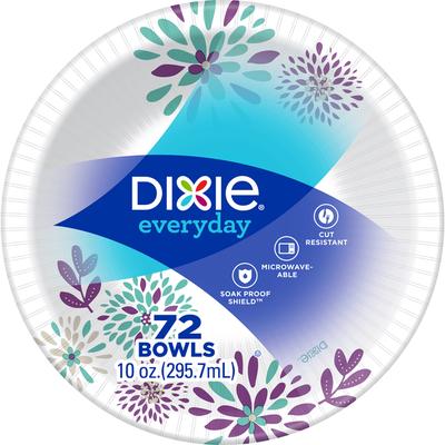 Dixie Paper Bowls, 10 oz Disposable Bowls (Design May Vary)