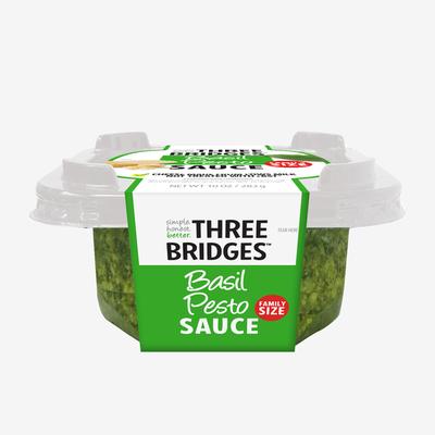 Three Bridges Basil Pesto Sauce, Family Size