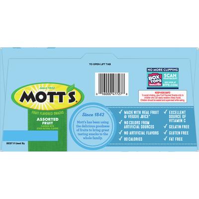 Mott's Fruit Flavored Snacks, Assorted Fruit, 90 Count