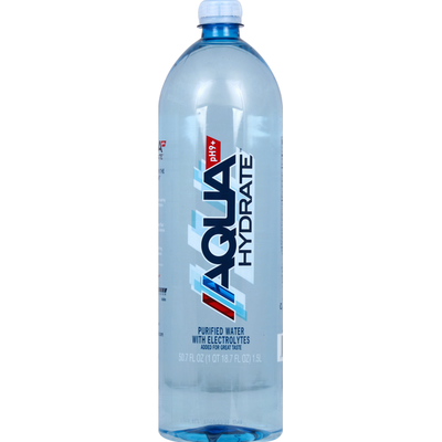 AQUAhydrate Water, Purified, with Electrolytes