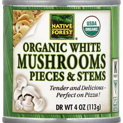 Native Forest Mushrooms, Organic, White, Pieces & Stems
