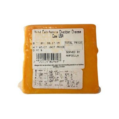 Mollie Stone's Mild California Cheddar Cheese