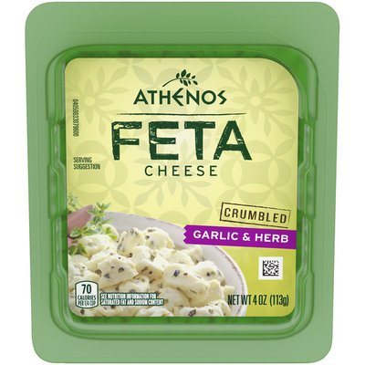 Athenos Garlic & Herb Crumbled Feta Cheese
