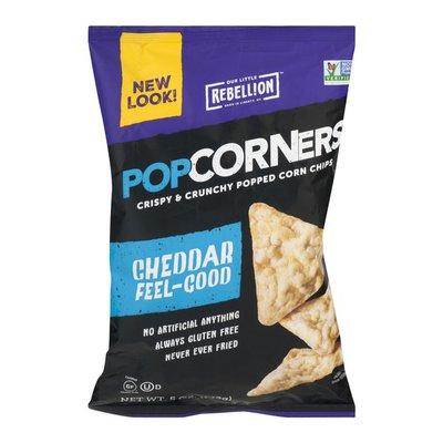PopCorners Corn Chips, Popped, White Cheddar