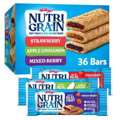 Kellogg's Nutri-Grain Soft Baked Breakfast Bars Variety Pack