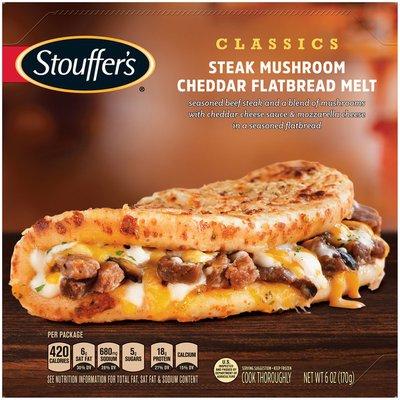 Stouffer's CLASSICS Steak Mushroom Cheddar Flatbread Melt