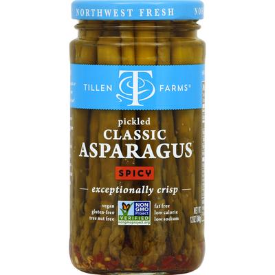 Tillen Farms Asparagus, Classic, Spicy, Pickled