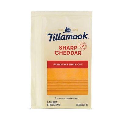 Tillamook Farmstyle Thick Cut Sharp Cheddar Cheese Slices