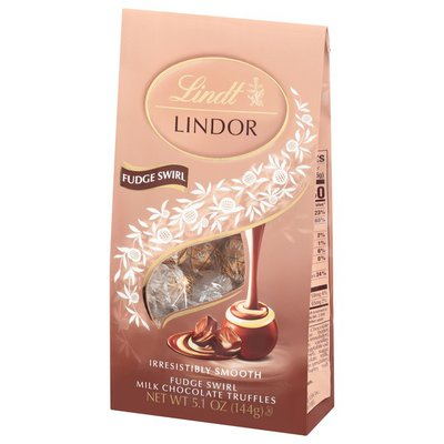 Lindt LINDOR Fudge Swirl Milk Chocolate Candy Truffles