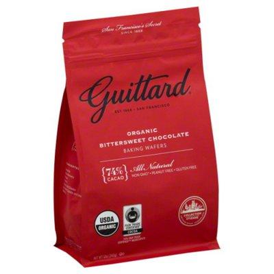 Guittard Chocolate, Bittersweet, Baking Wafers, Organic, Pouch