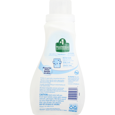 all Detergent, with Stainlifters, Free Clear, Small & Mighty