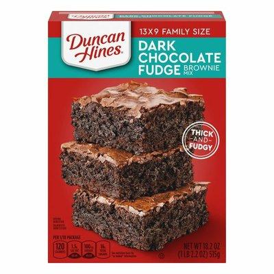 Duncan Hines Brownie Mix, Dark Chocolate Fudge, Family Size